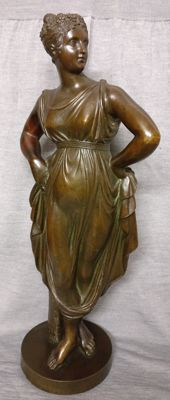 A bronze sculpture depicting the goddess Venus - late 1800s