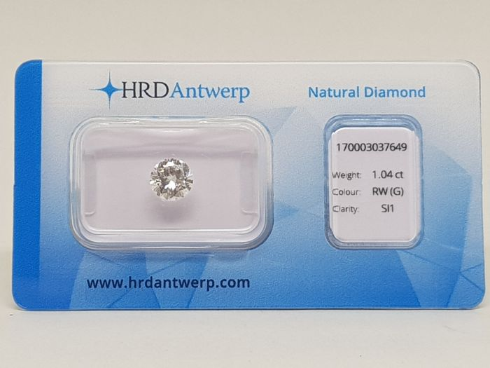 1,04 ct. Brilliant Cut G SI1