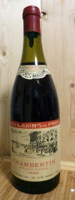 1949 Chambertin Grand Cru Caves Maxims de Paris x 1 bottle