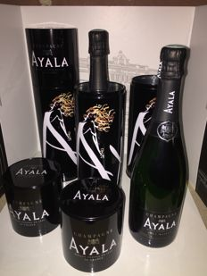 Champagne Ayala Brut Collectiors edition - 3 bottles (75cl) in metal tins
