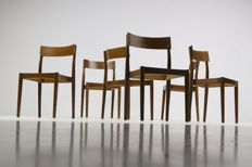 Peter Hvidt & Orla Mølgaard-Nielsen for Fritz Hansen - set of 6 chairs, model Portex