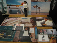 Nice big Michael Jackson Lot,5 original LP's+ original Singing michael jackson puppet+3 cd's+1 singel+1 michael jackson book.