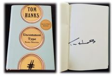 "Tom hanks - Authentic & Original Signed Autograph in a First Edition Book ""Uncommon Type "" - Limited Edition"