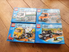 City - 60016 + 60017 + 60018 + 60058 - Tanker Truck + Flatbed Truck + Cement Mixer and more