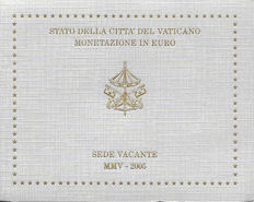 """Vatican - Year pack of Euro coins, 2005 """"Sede Vacante"""""""