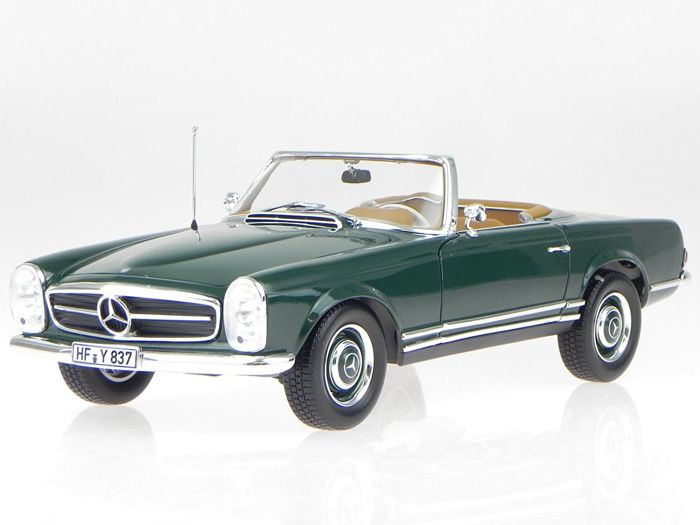 Norev - Scale 1/18 - Mercedes-Benz 230 SL (W113) Pagoda Convertible 1963 - Dark green