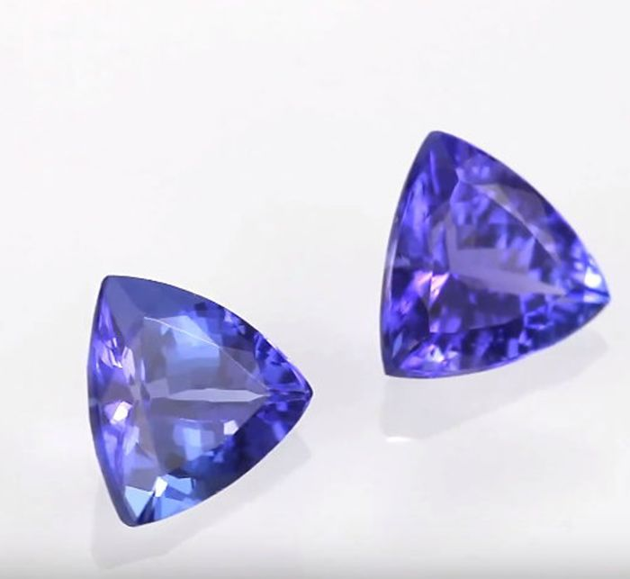 Two Tanzanite - Blue/Violet, 1.48 ct in total
