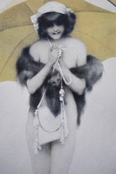 Raphael Kirchner (1876/1917) - Illustration / lithograph - Art Nouveau