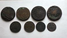 Russia - 8 coins 1778-1842