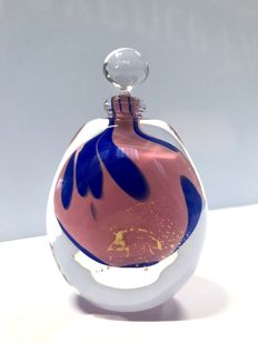 Maxence Parot - Unique bottle in opaline and gold (dated/signed)