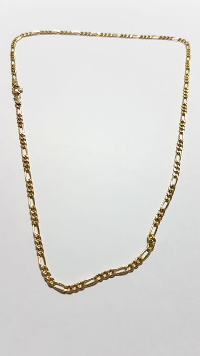 Cartier style chain necklace in 18 kt gold Length: 45 cm