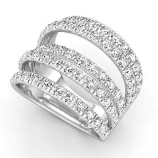 White gold ring with 2.24 ct, on brilliant cut F - G (fine white)/VS diamonds - free resizing