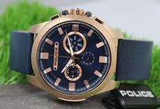 Police Men's - Rose Gold Plated Stainless Steel Chronograph - Designer Watch - New