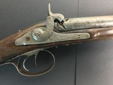 Shotgun with English butt certified Liege circa 1860/70