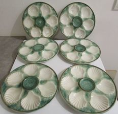 Chantilly, 6 old marked oyster plates