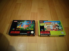 """Snes """"Disney's Jungle Book"""" FRA Version & """"Disney's Goof Troop"""" both Fully Complete, Box, Manual and inlay"""