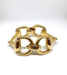 Gucci large Horsebit bracelet in 18 kt yellow gold - Length 19 cm
