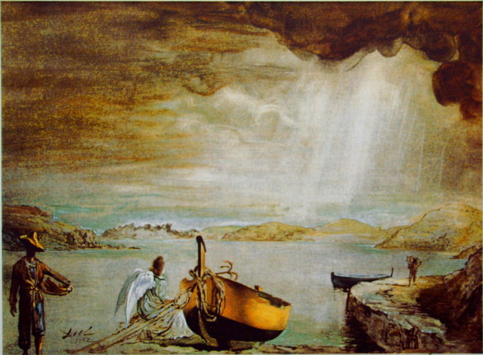 Salvador Dalí (after) - The Angel of Port Lligat