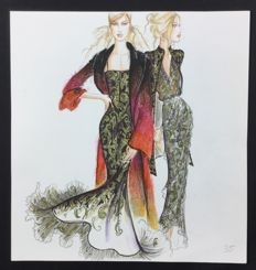 Studio Valentino - original illustration (1980s)