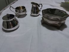 Silver Plated Set and Jewel Box, Sheffield model