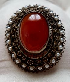 Filigree work with Carnelian