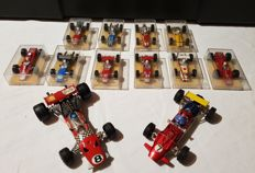 Dinky Toys/Politoys/Chamption - Scale 1/32-1/66 - Lot of 12 Racing cars F1 1970s