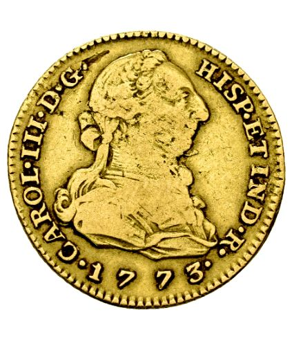 Spain – Carlos III (1759–1788) – 2 gold escudos. Madrid. 1773. PJ.