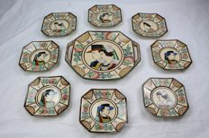 HB Quimper - Set of 9 wedding plates