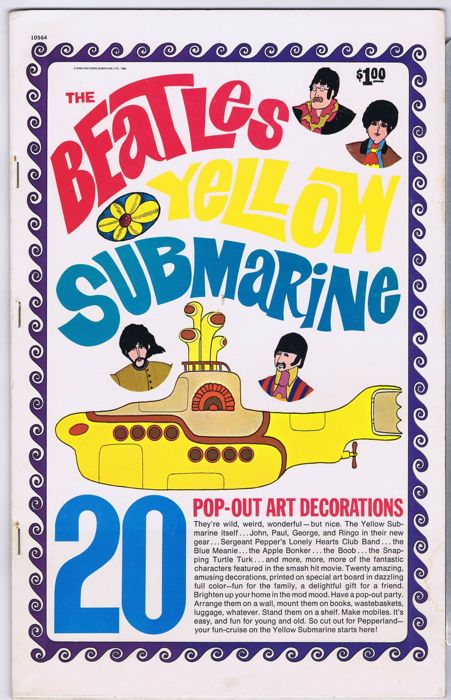 The Beatles 20 Pop Out Art Decorations Yellow Submarine Usa