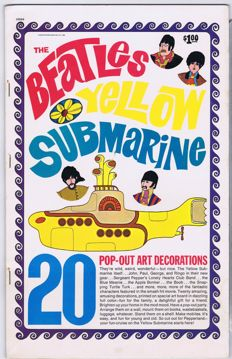 The Beatles - 20 Pop-Out Art Decorations: Yellow Submarine | USA 1968 | 38x24,5cm | 10 pages