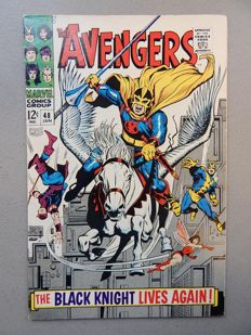 Marvel Comics - The Avengers #48 - With 1st appearance of Dane Whitman as Black Knight III  - 1x sc - (1968)