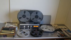 Beautiful REVOX B77 4-Track taperecorder with ORIGINAL dustcover, user manual,several tapes and extra adapters