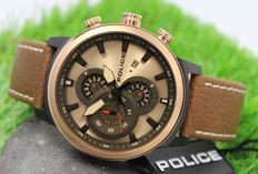 Police Mens - Rose Gold Plated - Chronograph Designer Watch - New & Perfect Condition