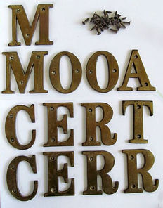 Copper letters, 19th century