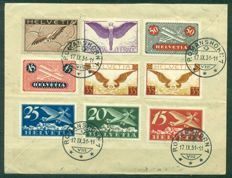 Switzerland 1925-1949 Zeppelin, 1st Flights and Aerogrammes Collection of 5 covers
