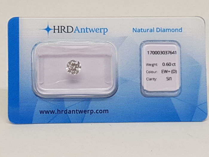 0,60 ct. Brilliant Cut Diamond D SI1