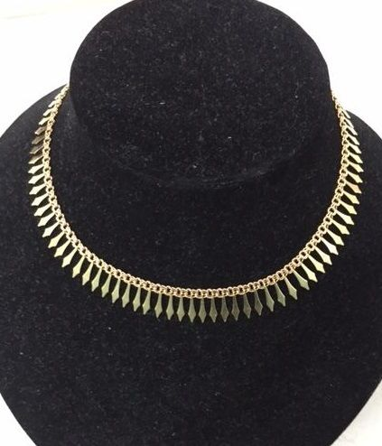 'Cleopatra' type drapery necklace in 18 kt gold.