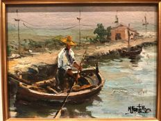 "Manuel Vicente Mora (Spanish 1924) -""The Fisherman"""