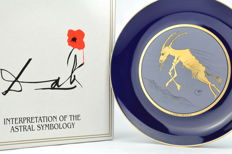 """Capricornius"" - Astral symbology by Salvador Dalí 1978/79 - Porcelain plate numbered with COA"