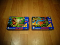"""Snes """"Disney's Jungle Book"""" & """"Disney's Timon & Pumbaa's Jungle Games"""" both Rare HOL Editions and both Fully Complete, Box, Manual and inlay"""