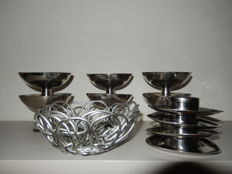 Alessi - fruit basket, sundaes and egg cups