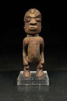 Wooden Ancestor Figure on Stand -LOBI-Ghana