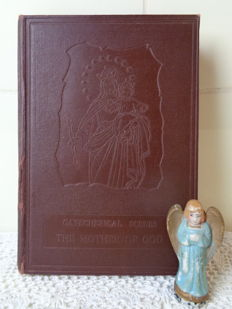 Porcelain angel and pop-up book The mother of god - different origins - 1850 and 1954