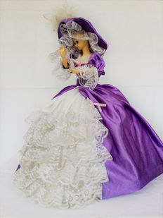 """Old tall vintage """"automaton"""" doll, with music"""