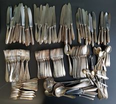 WMF cruciate ear - large collection cutlery - silver plated 90- 205 pieces - 1900-1920s