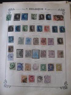 Belgium 1855/1935 - Collection of stamps