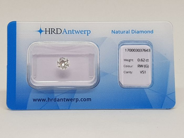 0,62 ct. Brilliant Cut Diamond G VS1