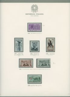 Italy, Republic, 1954/1979 – New collection with high values from the period