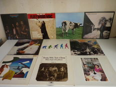 Mixed  10 album lot with many rock styles and great bands : CSNY - Eagles - Led Zeppelin -Pink Floyd - Fleetwood Mac - the Steve Miller Band - David Gilmour - Michael Jackson - Supertramp - Bad Company