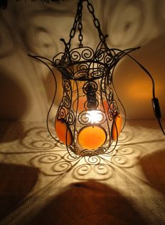 Ethnic Hand made wrought iron ceiling lamp